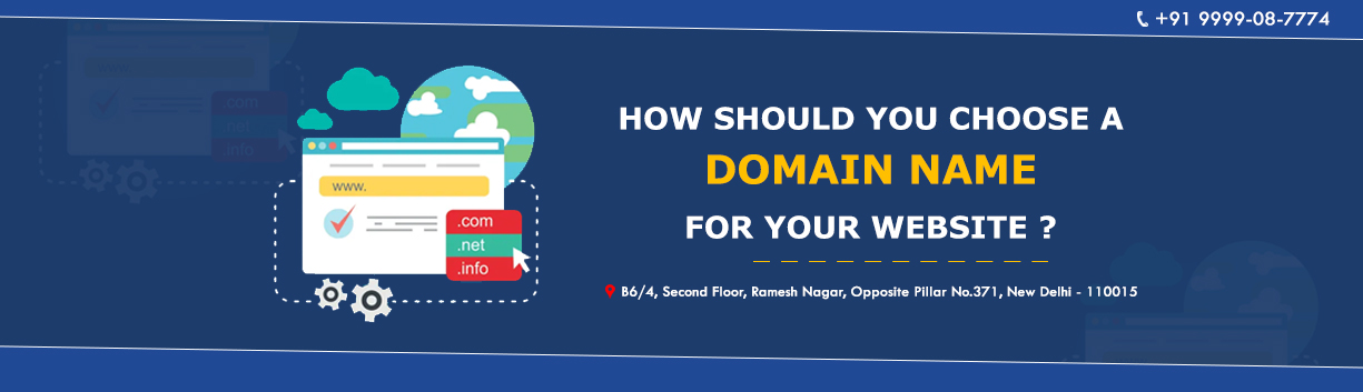 How should you choose a domain name for your website